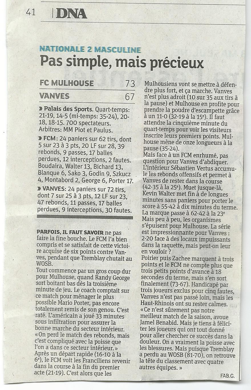 [J 13] FCMB - Stade de Vanves : 73-67 - Page 2 2013-Vanves