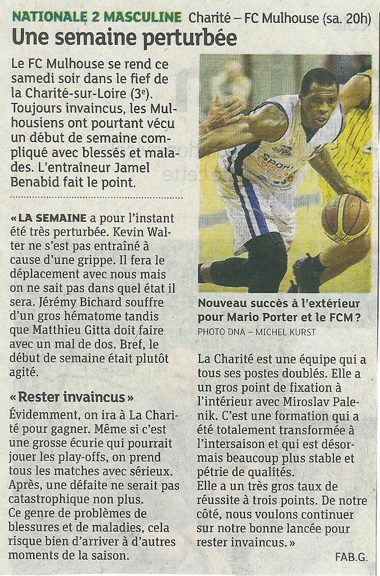 [J 05] La Charité - FCMB : 65 - 62 Dn