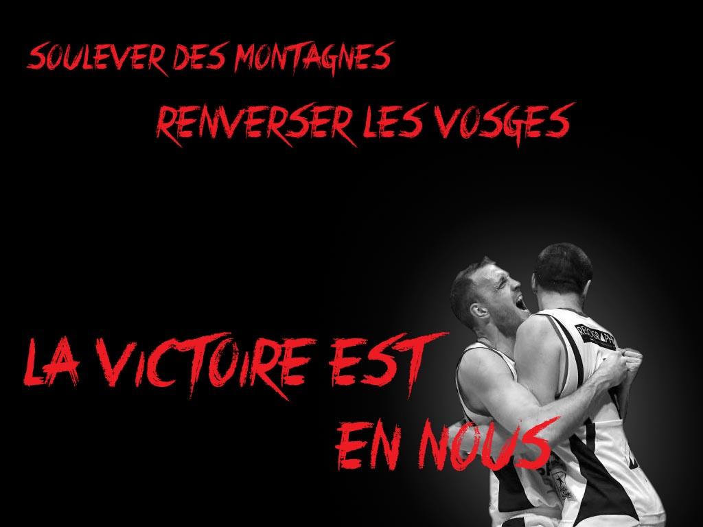 [Mars 2014] Les encouragements avant le match au GET Vosges Get