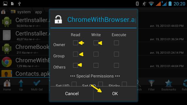 Supprimer les logiciels préinstallés d'Android Android-root-explorer-4