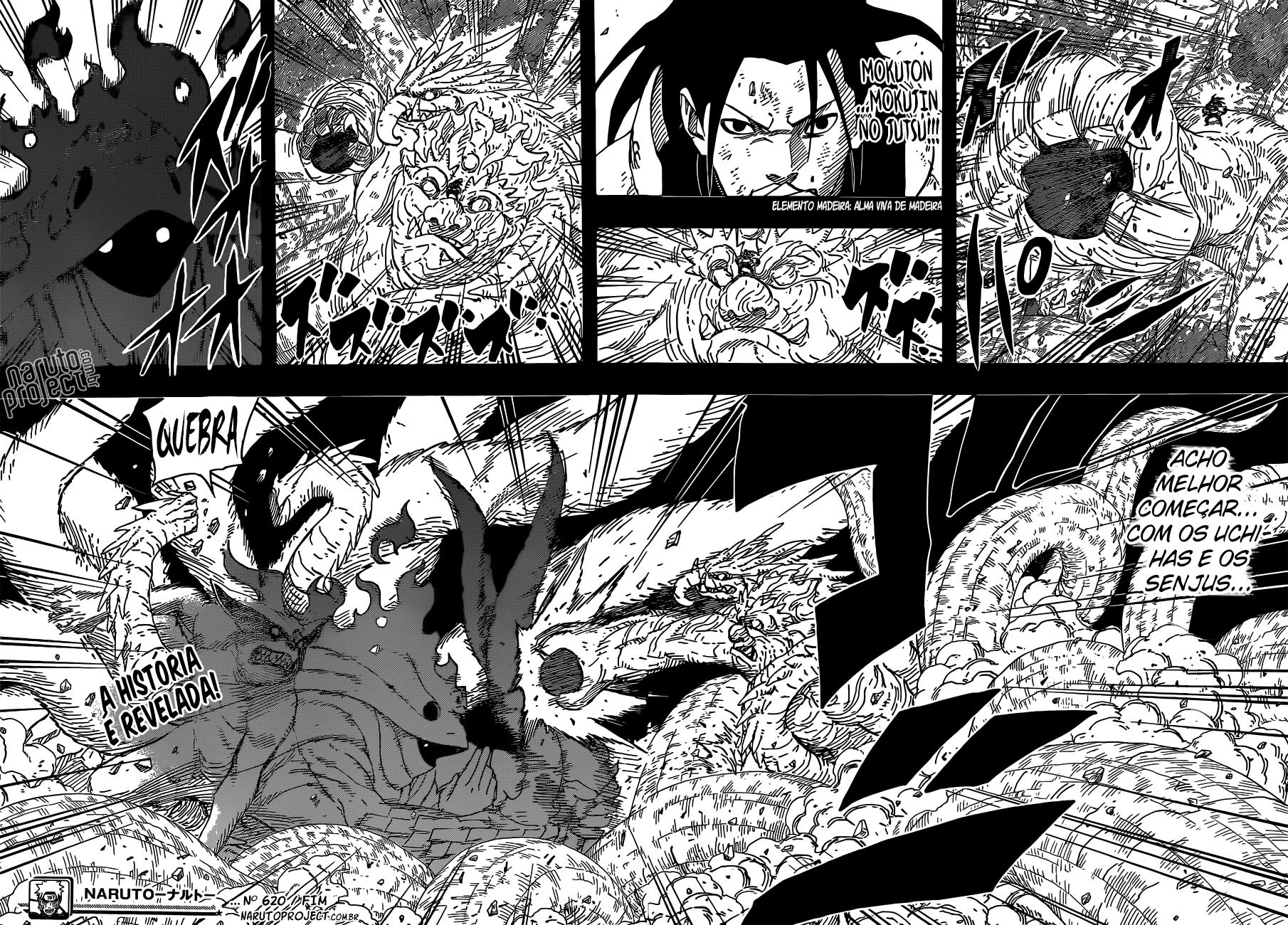 Hashirama vs. Mū, Oonoki, Tsunade e Sakura 16