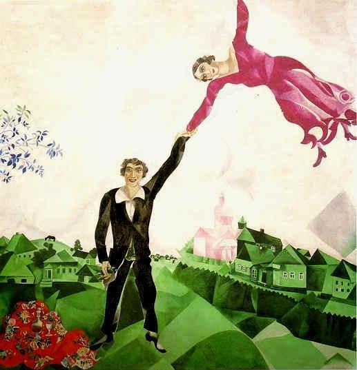 L'Amore nei Quadri Chagall_promenade
