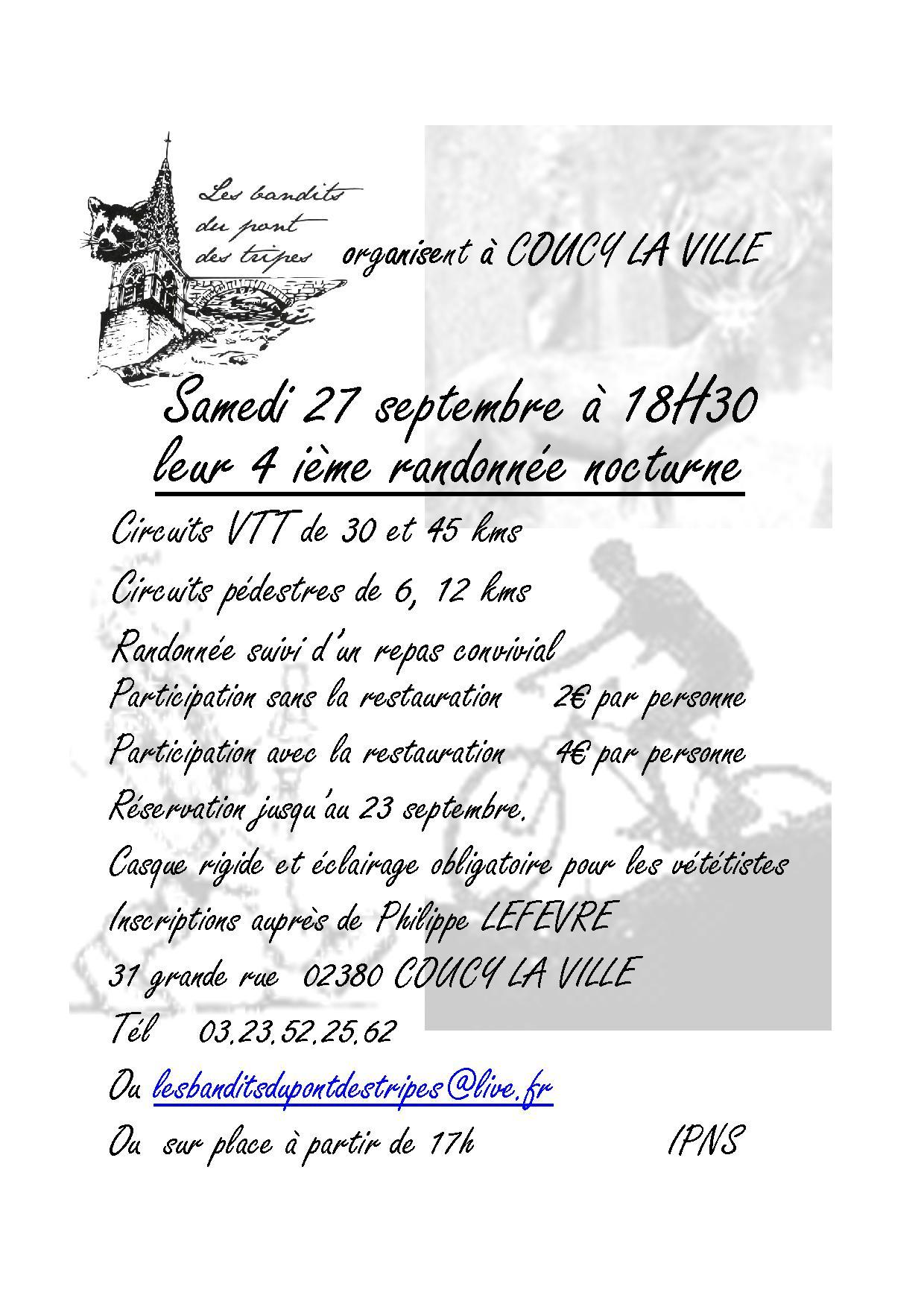 4ème Nocturne des Bandits du pont des tripes, 27 sept 2014 Affiche-2014