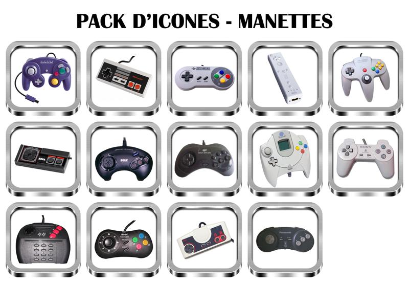 Icones pour emulateurs Manettes
