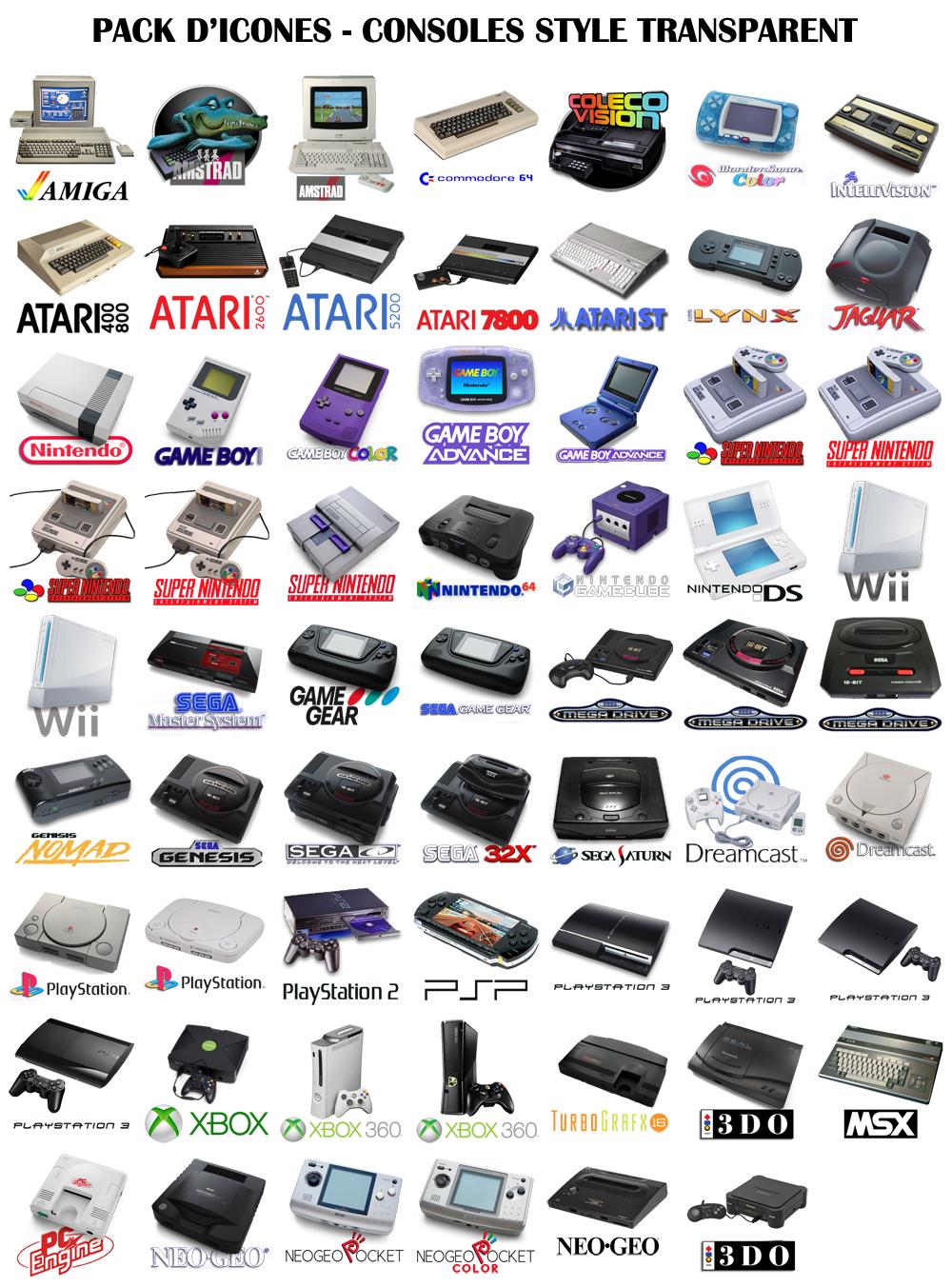 Icones pour emulateurs Transparents1