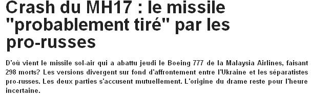 [Analyse des médias, spécial journaliste] MH17 : 4 énormes manipulations colportées par nos médias, et jamais corrigées… JDD-mh17