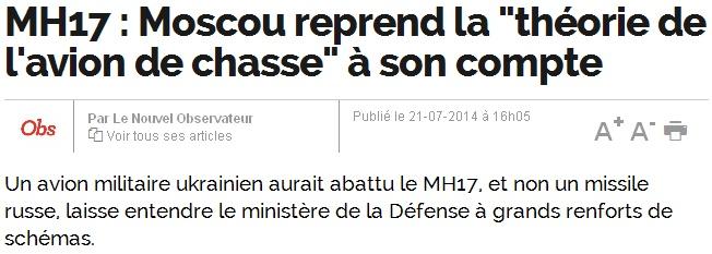 [Analyse des médias, spécial journaliste] MH17 : 4 énormes manipulations colportées par nos médias, et jamais corrigées… Nouvel-obs-mh17