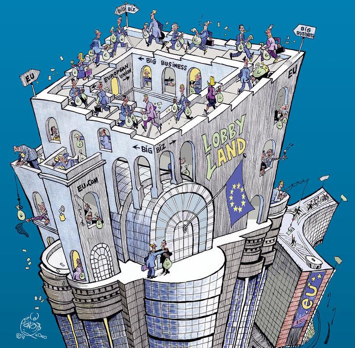 Europe, Trilatérale, mondialisme, soyez un conspirationniste : tôt ou tard, vous serez forcément dans le vrai - Page 2 Lobby_planet_cartoon_crop