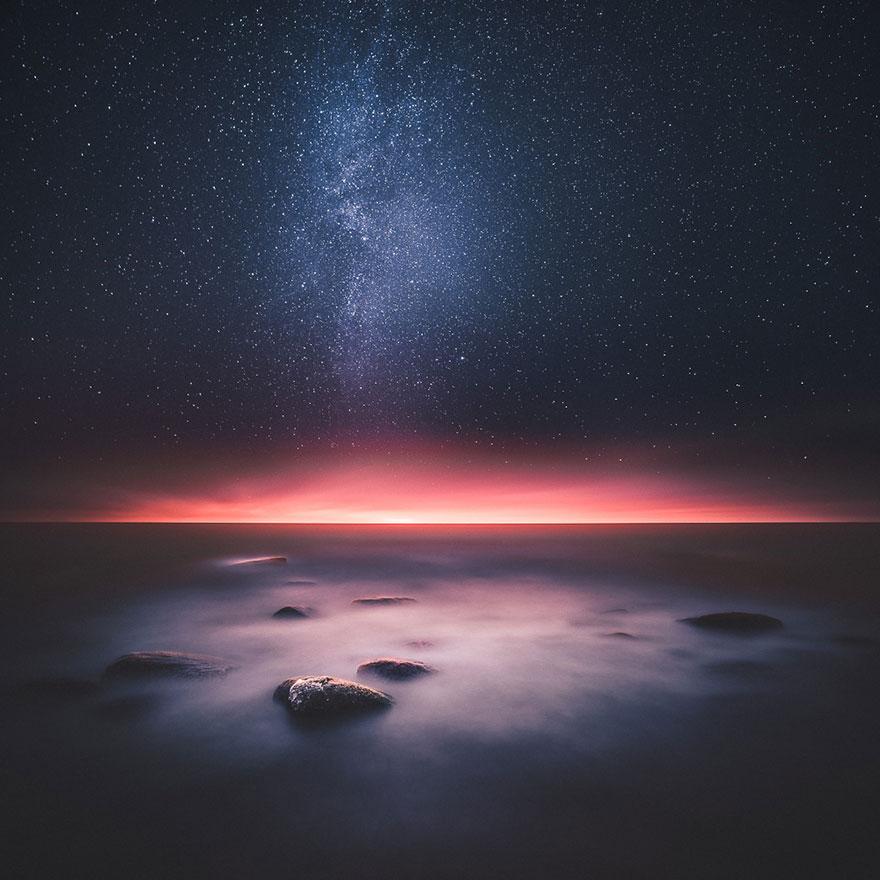 C'est de toute beauté : sites et lieux magnifiques de notre monde. Stars-night-sky-photography-self-taught-mikko-lagerstedt-1