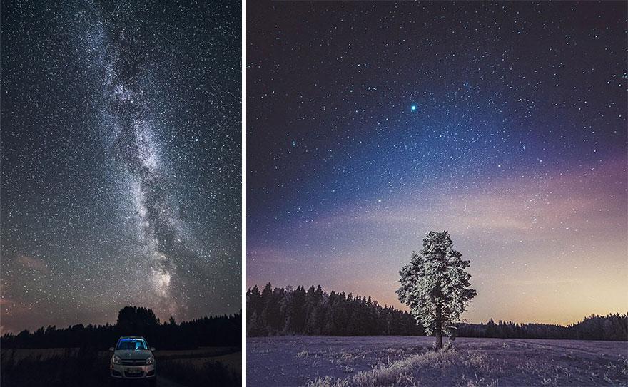 C'est de toute beauté : sites et lieux magnifiques de notre monde. Stars-night-sky-photography-self-taught-mikko-lagerstedt-3