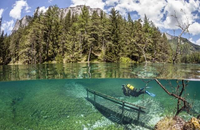 Aucun trucage dans ces photos incroyable du lac Grüner See Gruner-See-2-640x417