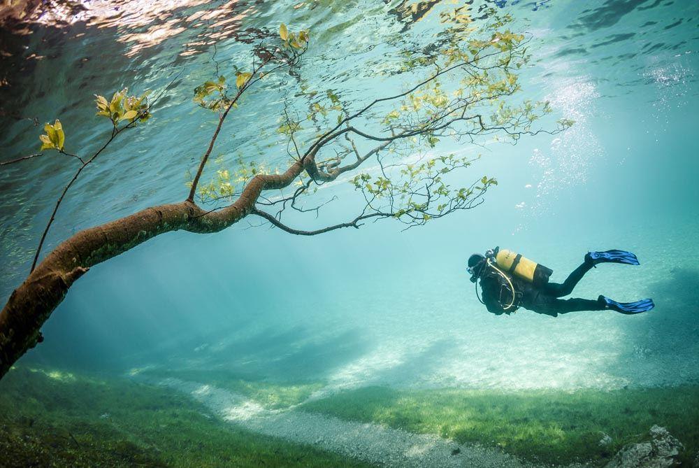 Aucun trucage dans ces photos incroyable du lac Grüner See Gruner-See-4
