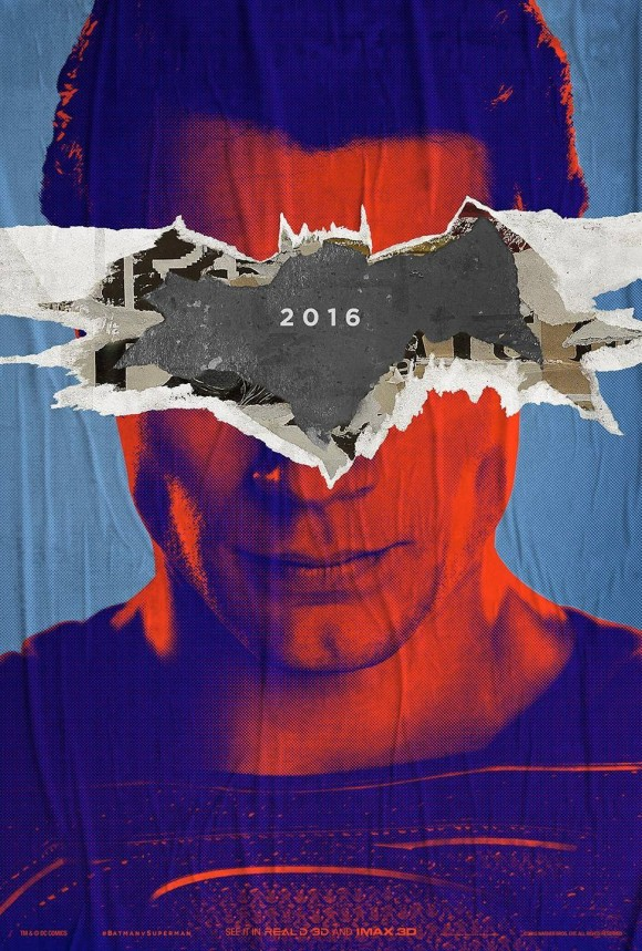 BATMAN VS SUPERMAN : L'AUBE DE LA JUSTICE - Page 11 Batman-v-superman-poster-superman-580x859