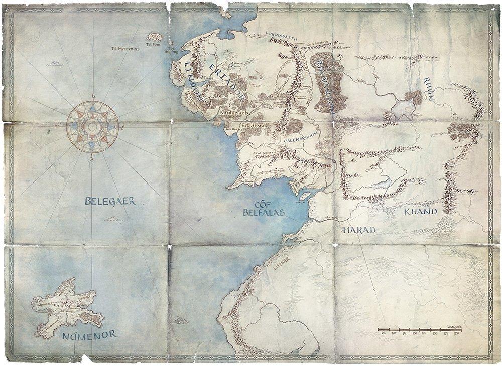 Le Second Âge de la Terre du Milieu en série Numenor-map-sda