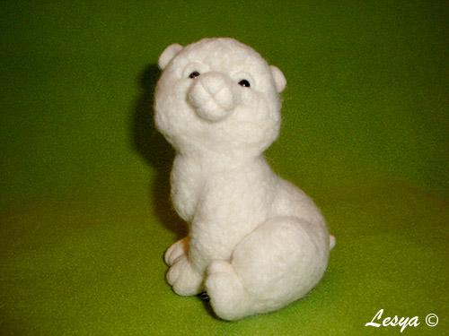 МК по валянию медвежонка Снежка Mk41