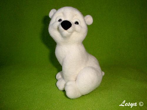 МК по валянию медвежонка Снежка Mk50