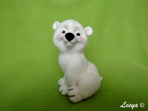 МК по валянию медвежонка Снежка Mk61