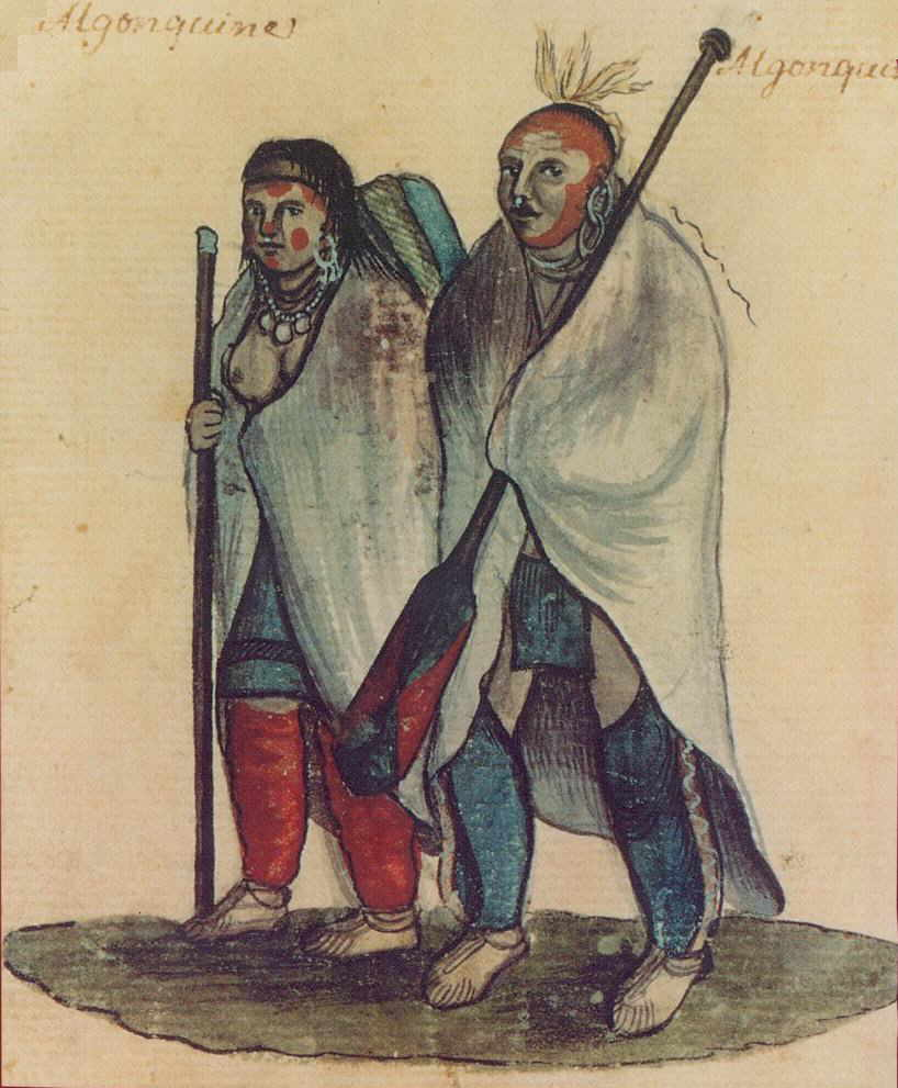 Indijanci na fotografiji i slici Algonquin