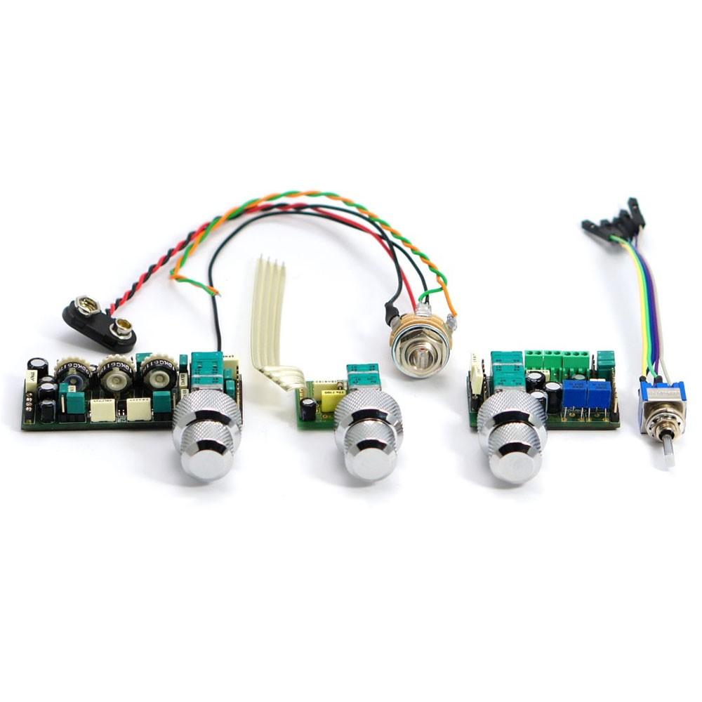 Preamp John East uni-pre 3 potenciômetro concêntrico Uni-pre-3-knob