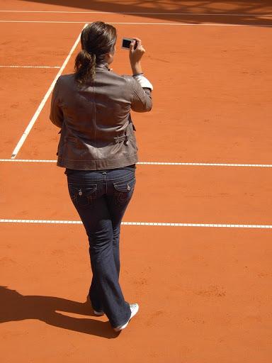 Mirka entrenando con Roger 68