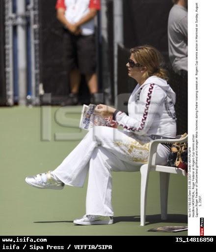 Mirka entrenando con Roger 54