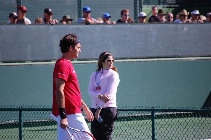 Mirka entrenando con Roger 27