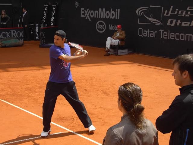 Mirka entrenando con Roger 68a