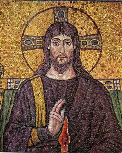 Mozaik Jesus-Christ-Ravenna-Mosaic-6C