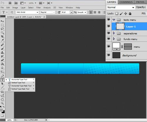 [Tutorial] Elegante menu azul no photoshop Tmenu-p28