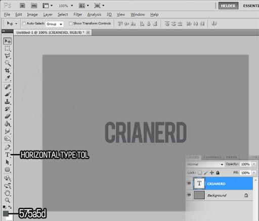 [ÓtimoTutorial] Efeito letterpress no photoshop Tuto-letterpress-2
