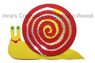 LAVORI CREATIVI  CON CD  Cd-snail