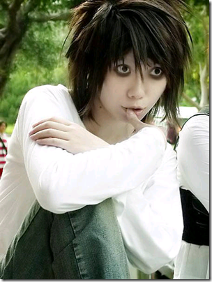 death note cosplay Death_note_-_l