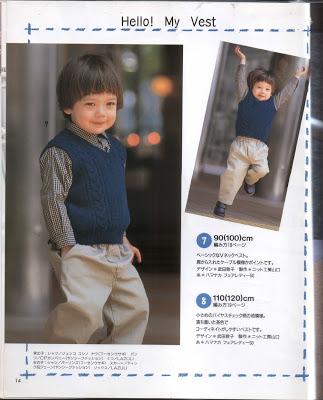 Hỏi chart chi tiết mẫu đan áo len trẻ em 14