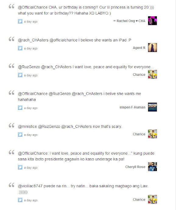 Charice Twitter Party (04/09/12) 06