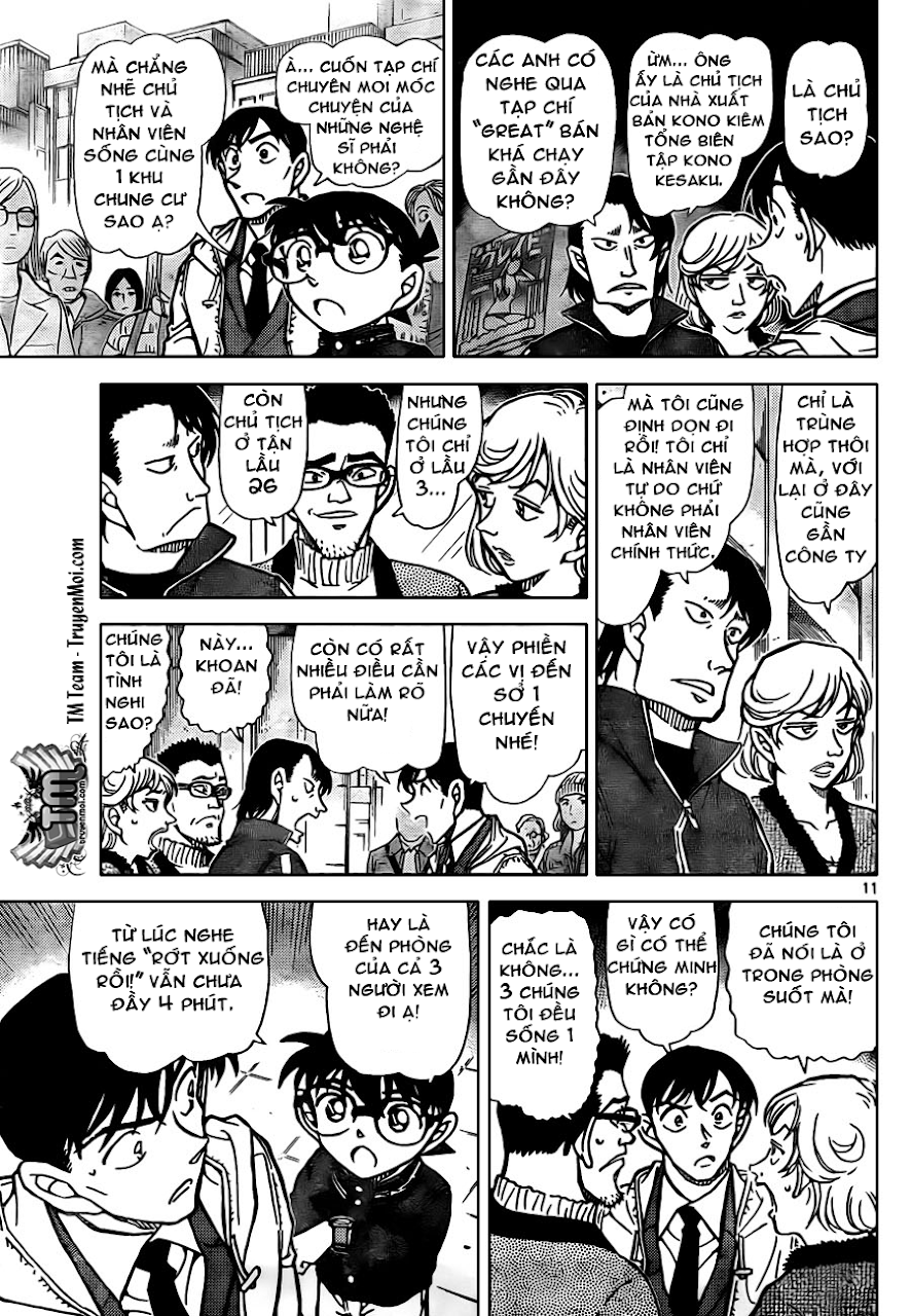 """Conan Chap 809: Dấu Vết """"Từng Ở Trong Phòng"""" 11"""
