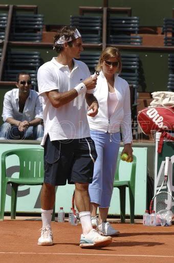 Mirka entrenando con Roger 41f
