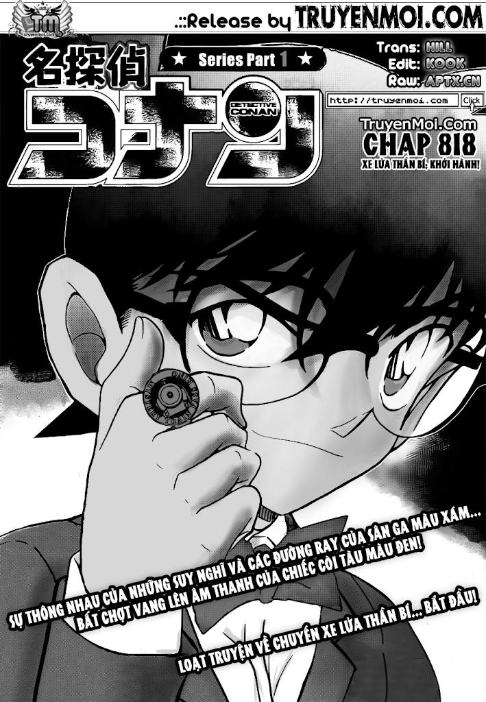 Conan Chap 818: Xe Lửa Thần Bí: Khởi Hành 01