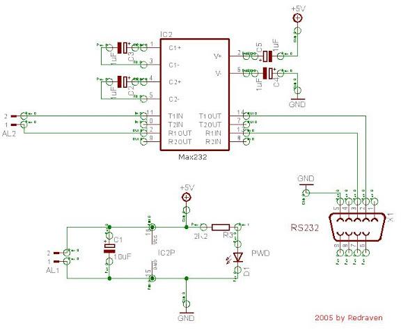 Conector serie de GIGASET 740/750 Aux_max232_esquema