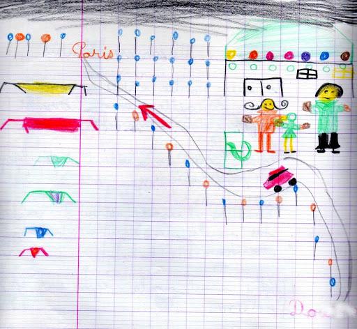 En voyage avec les dessins d'enfants Paris001