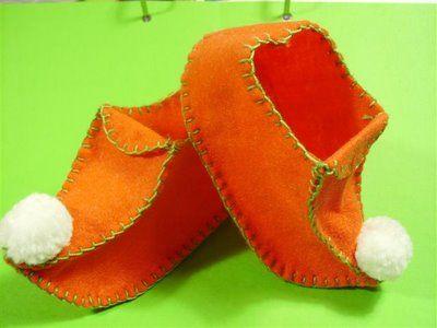 خياطة احذية للاطفال رائعة جدا 1
