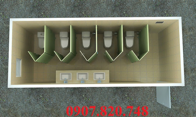 BÁN CONTAINER VĂN PHÒNG , BÁN CONTAINER KHO 20ft-New-Design-Container-Toilet