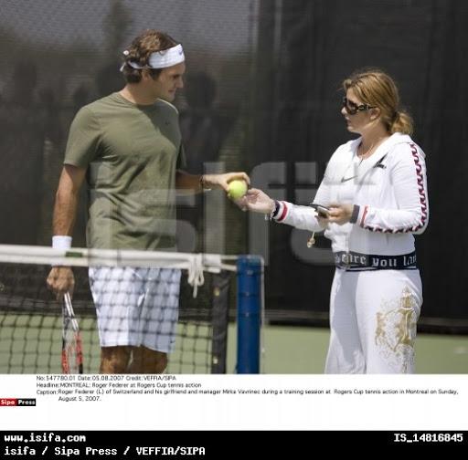 Mirka entrenando con Roger 57