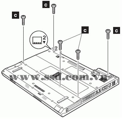 Hướng dẫn tháo lắp LAPTOP IBM™ ThinkPad T IBMp2_17