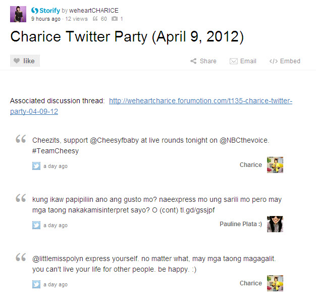 Charice Twitter Party (04/09/12) 01