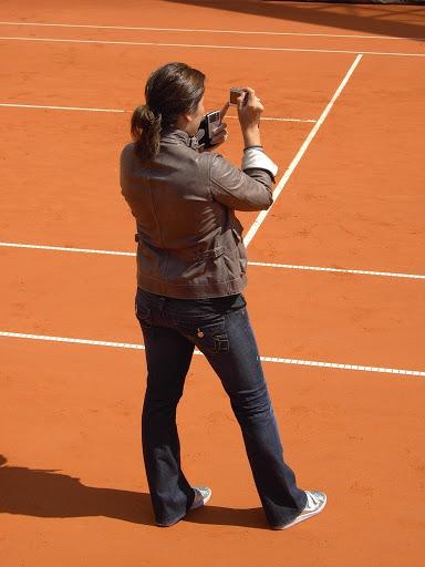 Mirka entrenando con Roger 67