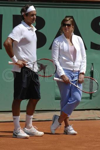 Mirka entrenando con Roger 41g