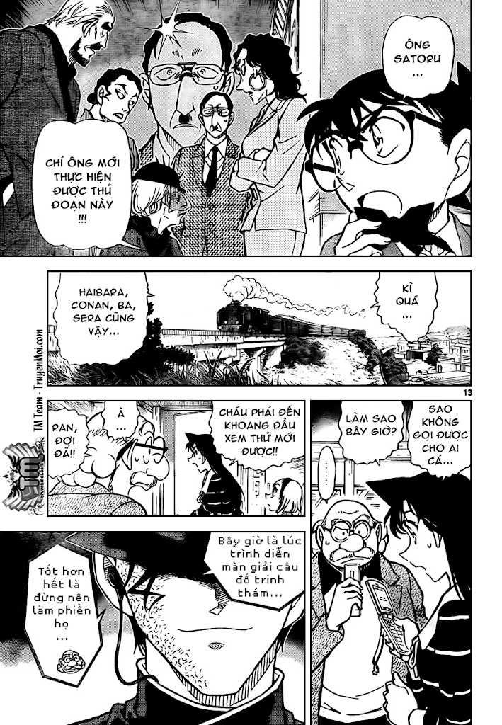 Conan Chap 822: Xe Lửa Thần Bí: Gián Đoạn 13