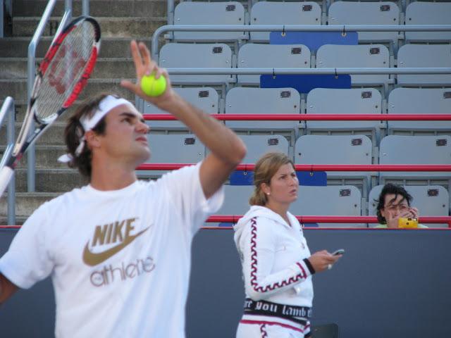 Mirka entrenando con Roger 53