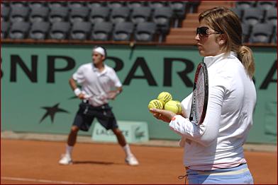 Mirka entrenando con Roger 46