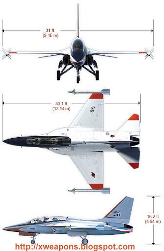 طائرة تدريب كورية أسرع من الصوت  T50_3view